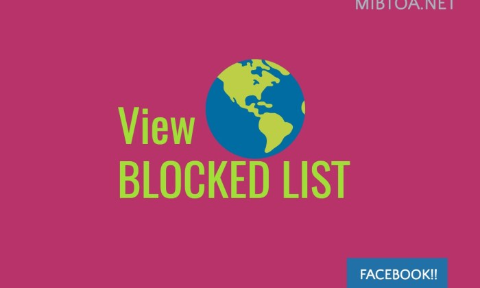 view blocked list
