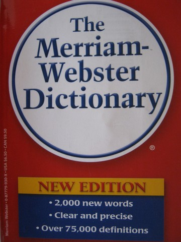 BOOKS FOR SALE: Free ***Merriam-Webster Dictionary New Edition