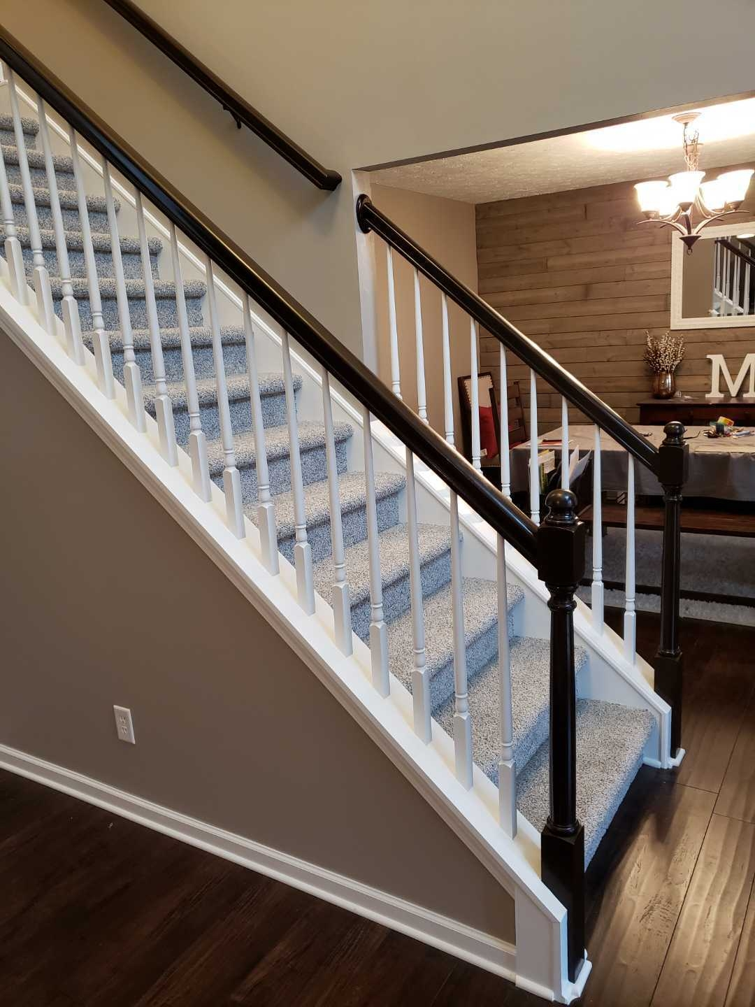 Railing Refinishing Cleveland Lifetime Touch Ups | Cost To Refinish Wood Railing | Stair Treads | Interior | Gel Stain | Paint | Balusters