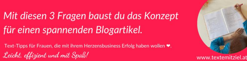Blogartikel schreiben 3 Fragen zur Vorbereitung