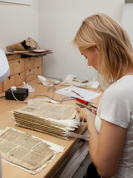 Papier- und Buchrestauration von S.D. Dornheim: wwww.papierestaur.com