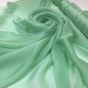 Voal chiffon de matase naturala verde jad