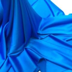 Satin gros elastic bleu-turcoaz