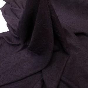 Jacquard mov-negru