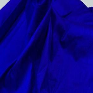 Shantung de matase naturala albastru-royal