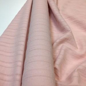Panza de bumbac roz-quartz cu dungi