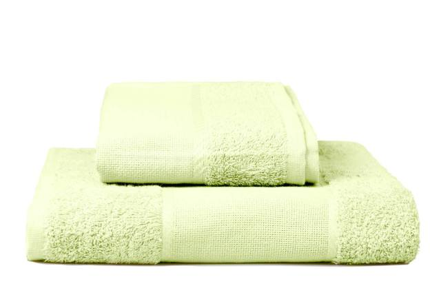 Stack of embroidery towels, yellow