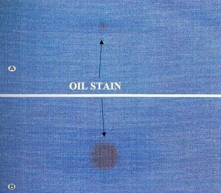 Oil stains