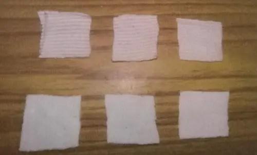 GSM Measurement sample of fabric