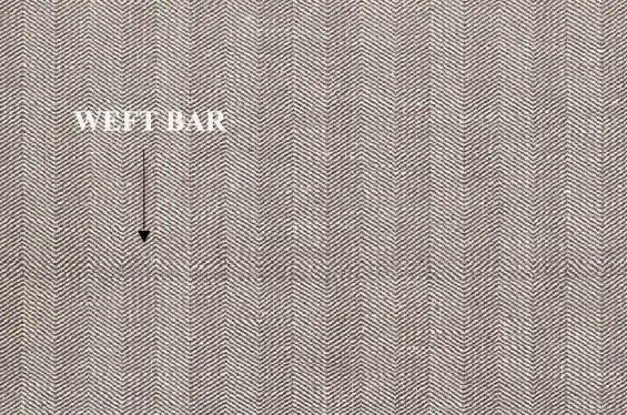 Weft bar defect of woven fabric