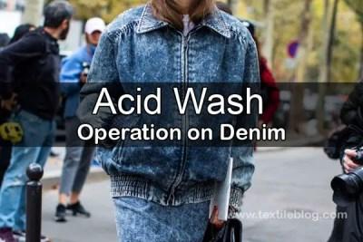acid wash operation on denim