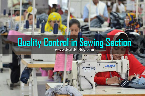 sewing section quality control