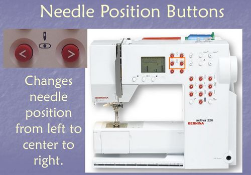 Needle position button