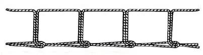 type 101 single thread chain stitch