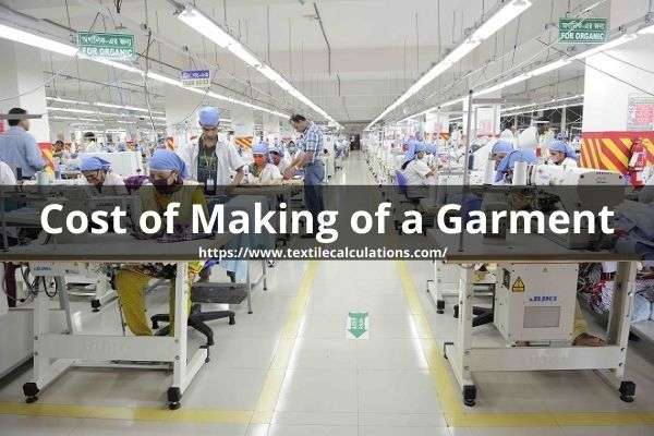 Cost of Making of a Garment