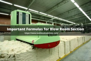 Formulas for Blow Room Section