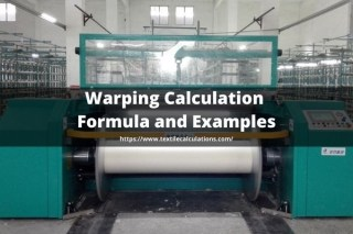 Warping Calculation Formula with example