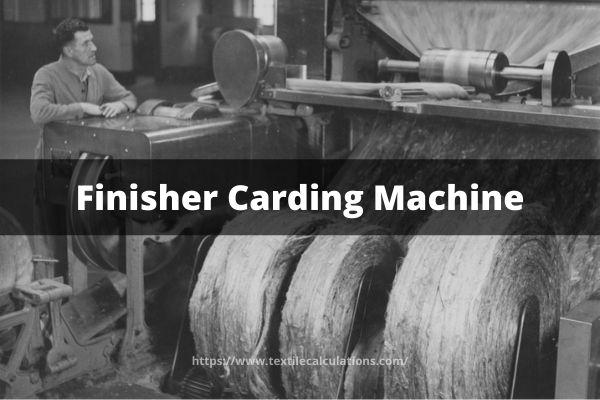 Mathematical Problem of Finisher Carding Machine
