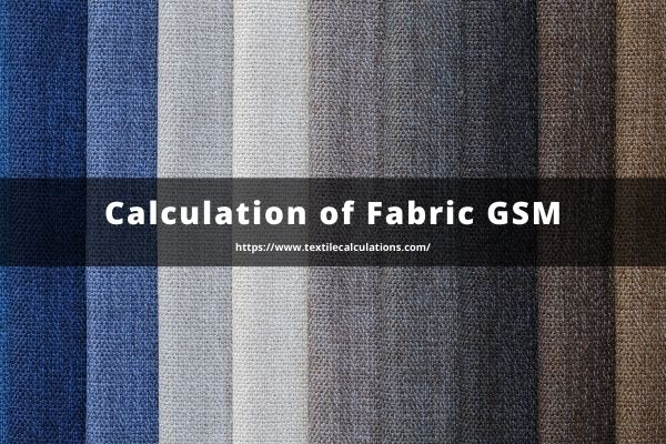 Calculation of Fabric GSM