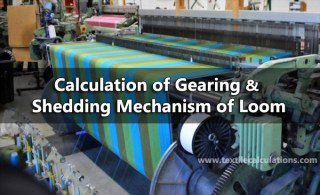 gearing calculation of loom