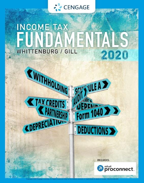 Income Tax Fundamentals 2020 38th Ed