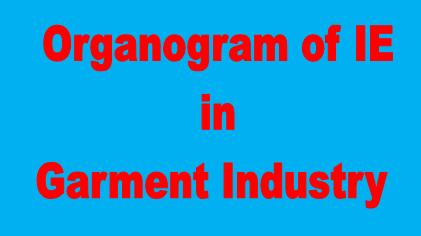 Organogram of IE Department in Garment Industry
