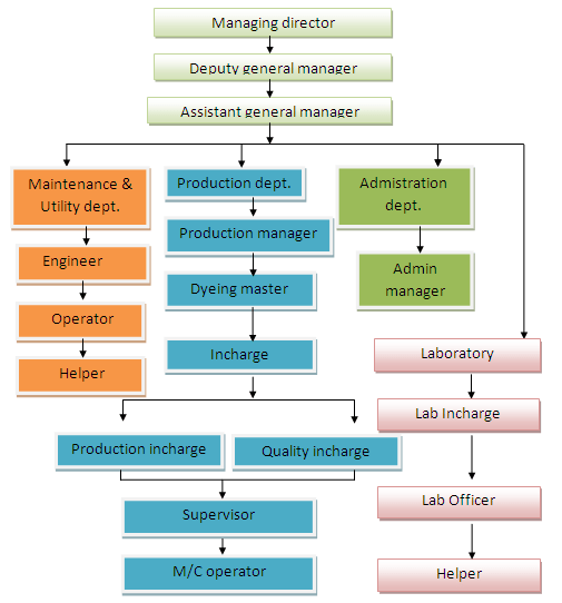 Organogram of Washing Factory