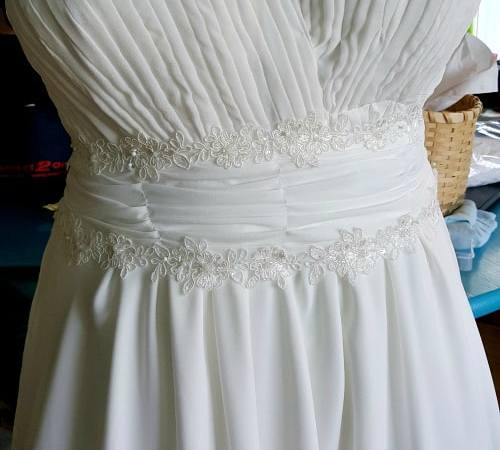 Wedding Dress Part 4: Combining the Elements- Sewing the Dress