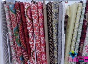 Different types of fabrics lay & package .