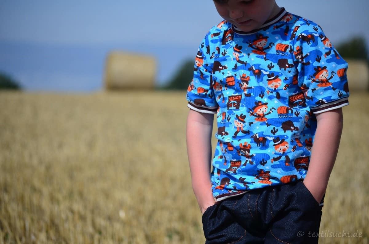 Cowboy-Shirt und Upcycling-Jeans - Für Jungs genäht - Bild 1   textilsucht.de