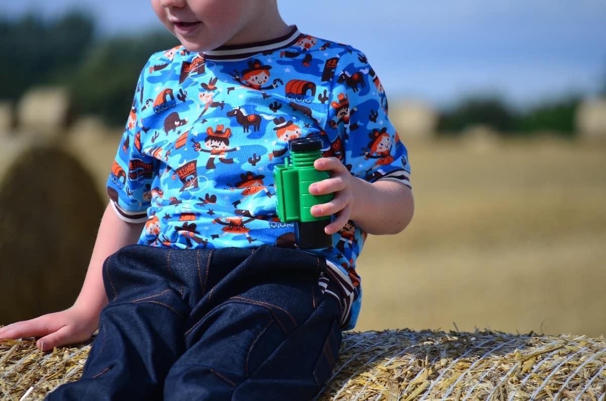 Cowboy-Shirt und Upcycling-Jeans - Für Jungs genäht - Bild 4   textilsucht.de