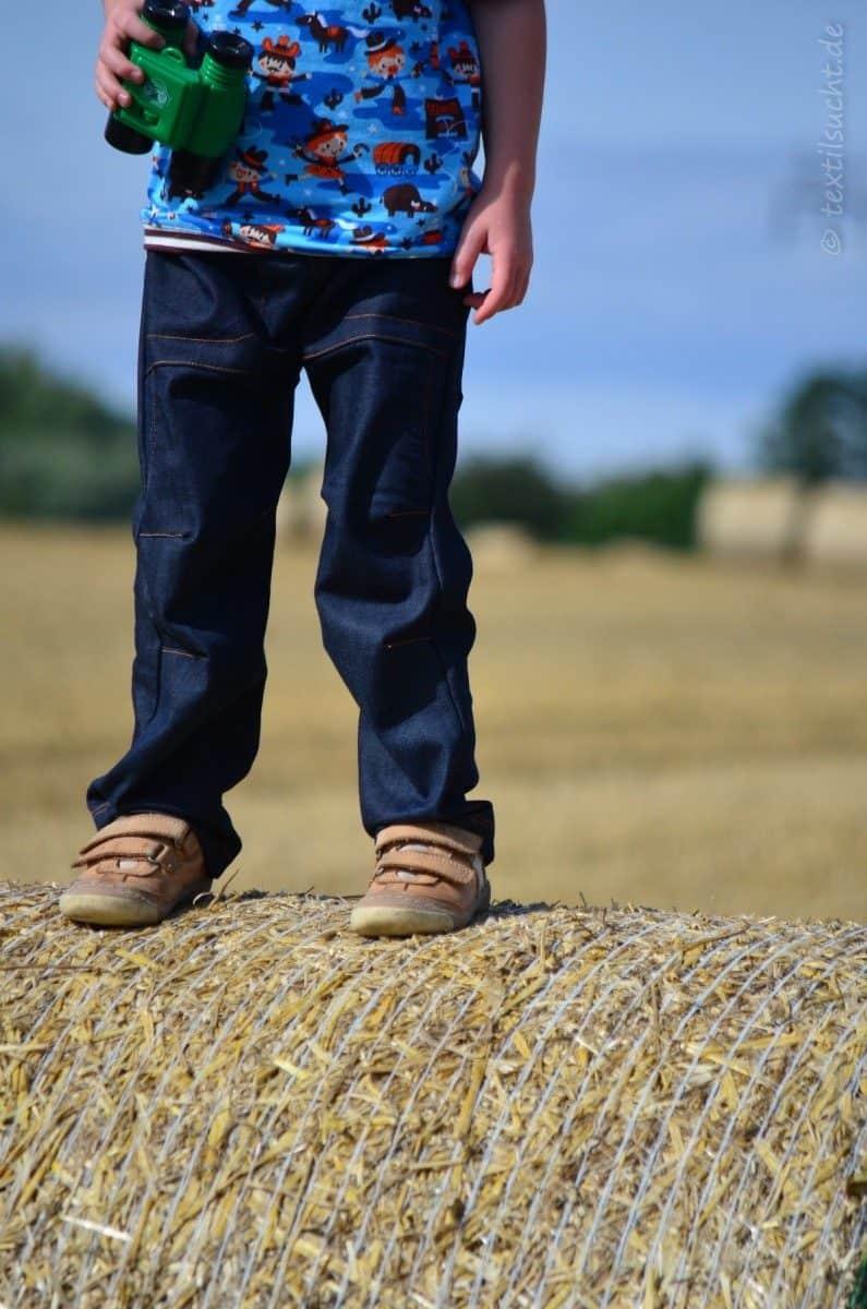 Cowboy-Shirt und Upcycling-Jeans - Für Jungs genäht - Bild 5   textilsucht.de