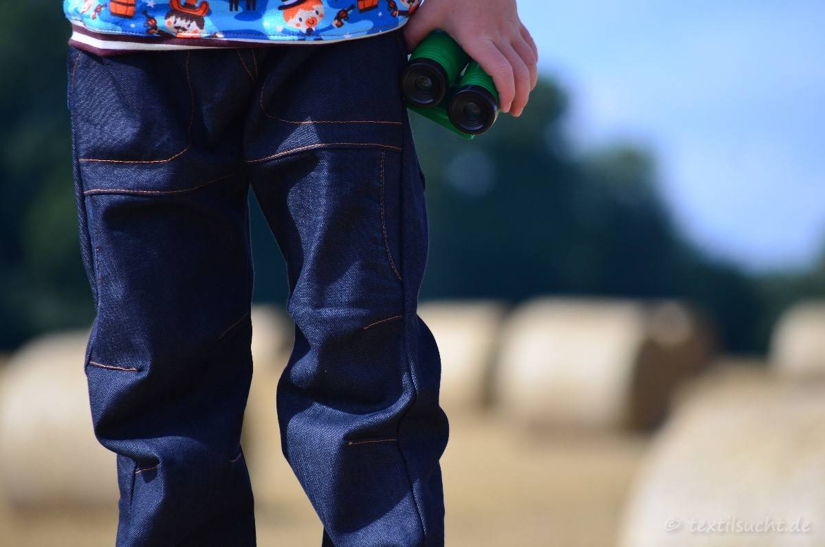 Cowboy-Shirt und Upcycling-Jeans - Für Jungs genäht - Bild 6   textilsucht.de