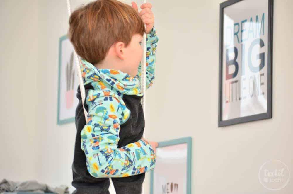 Kinderkleidung nähen: Pullover und Hose aus Wikinger Sweat von Swafing - Bild 6 | textilsucht.de