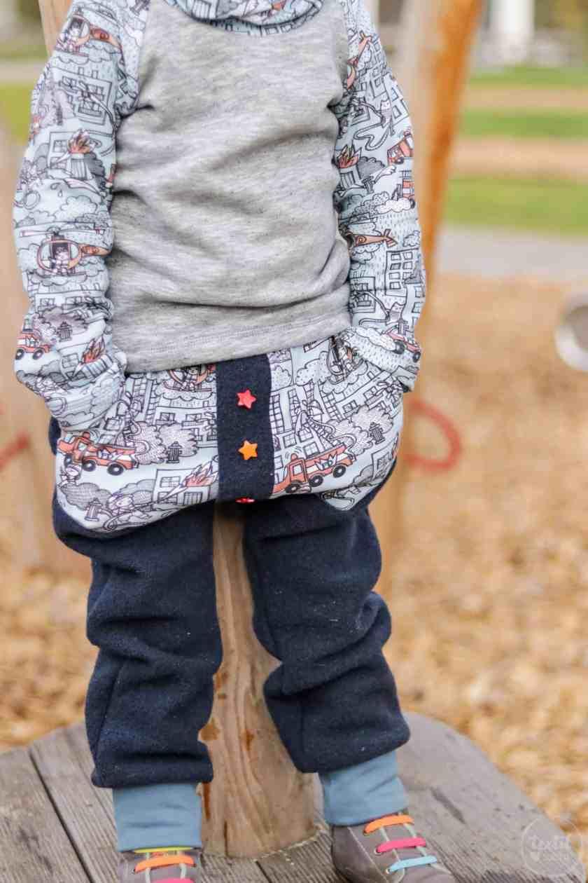 Kinderoutfit aus Walkhose und Sweater nähen - Bild 8 – textilsucht.de