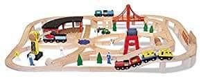 Holzeisenbahn-Set
