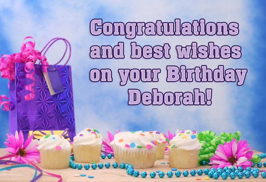 Deborah Congratulations And Best Wishes On Your Birthday
