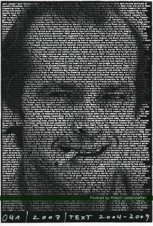 Jack Nicholson, Ralph Ueltzhoeffer Textportrait