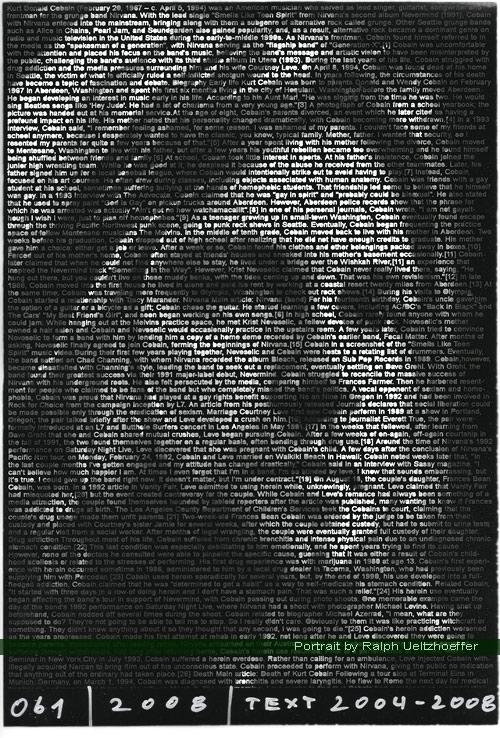 Kurt Cobain, Ralph Ueltzhoeffer Textportrait