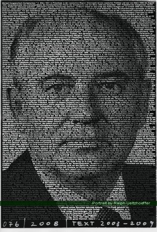 Michail Gorbatschow, Ralph Ueltzhoeffer Textportrait