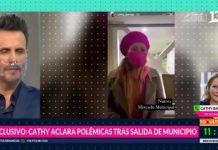 Cathy Barriga en entrevista telefonica