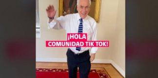 El Presidente Sebastián Piñera abrió una cuenta en TikTok