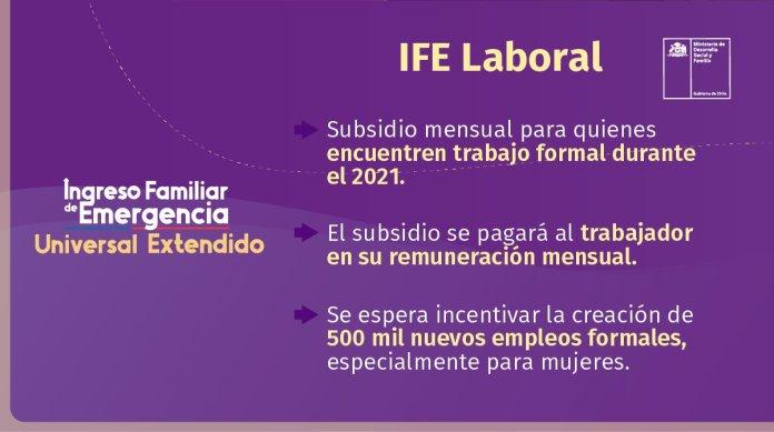 Los beneficiarios del IFE Laboral serán los trabajadores formales que cumplan con los requisitos.