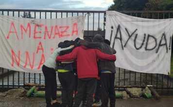 Niños y adolescentes de Aldeas Infantiles SOS organizaron una manifestación en Puerto Varas