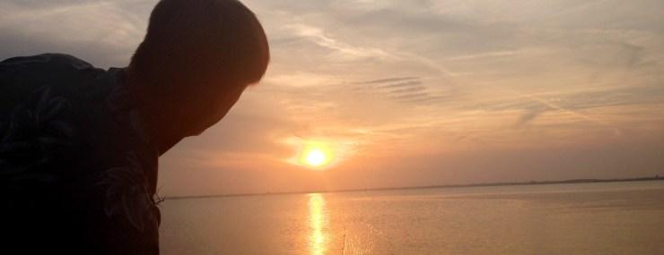 Skipping rocks-secret sunset-spot