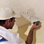 Amazing trick to match knockdown texture on a ceiling repair!