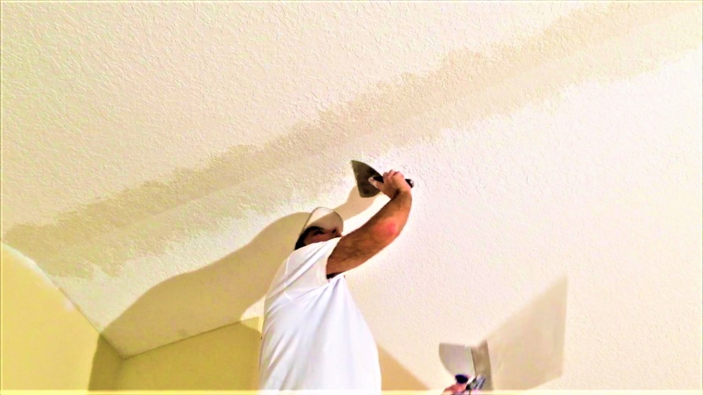 How I matched knockdown texture ceiling repair