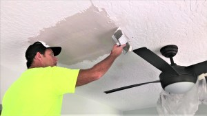 Skim Coating the Ceiling Repair
