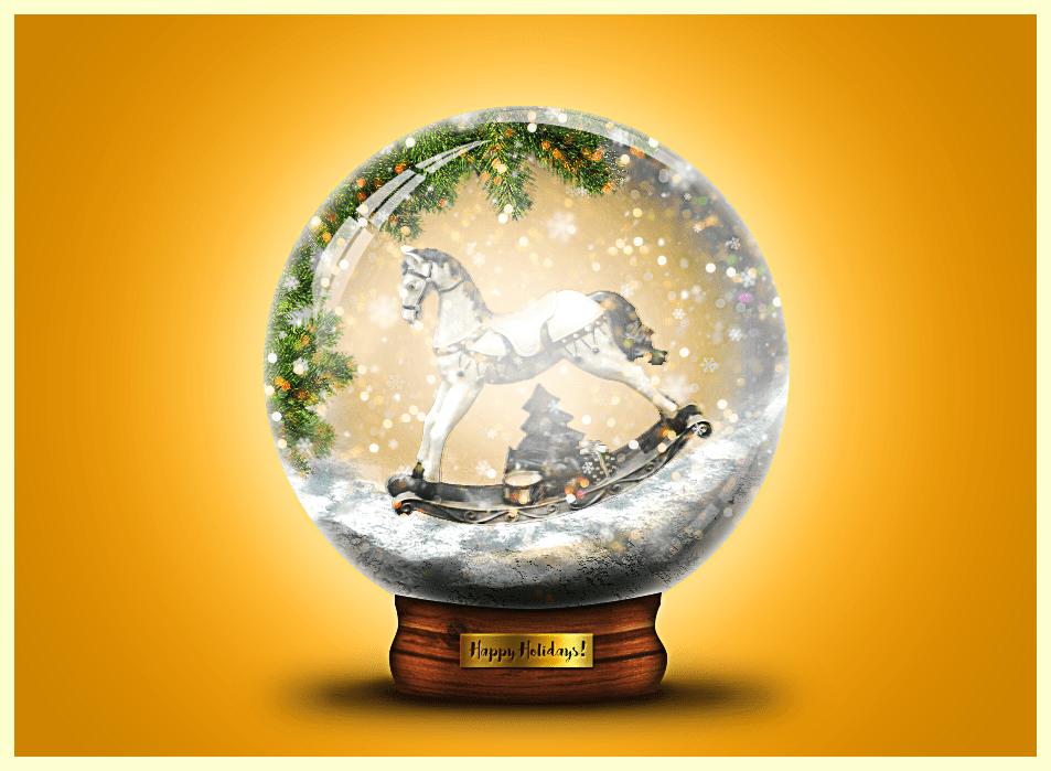 Creative Use Of Snow Overlays Snow Globe Photoshop Tutorial
