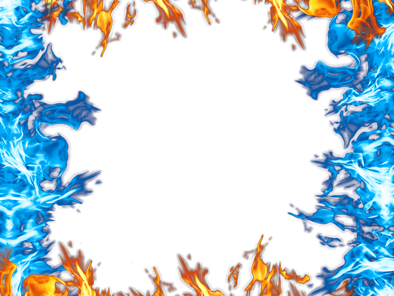 Blue Fire Border Flames
